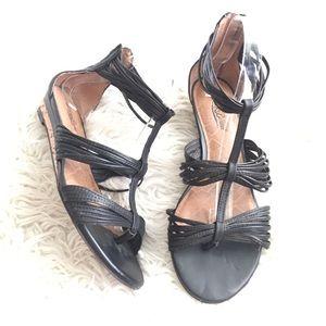 Lucky Brand Gladiator Strappy Black Sandals Size 9